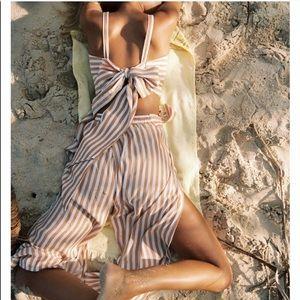 Faithfull Nude Striped Top